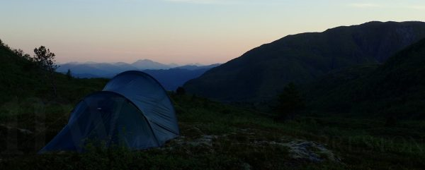 tent, mountains, sunset