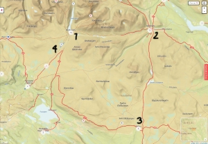 ut.no map of Rondane